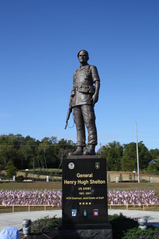 General Henry Hugh Shelton statue.