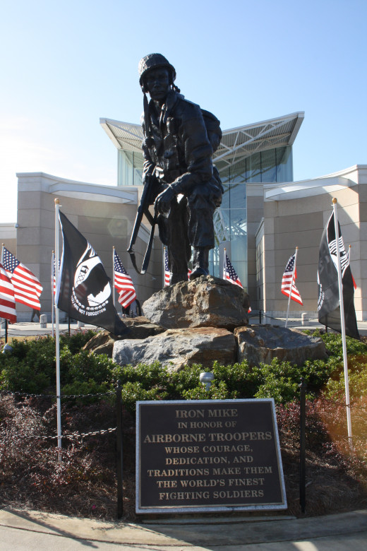The Iron Mike statue in front of the museum.