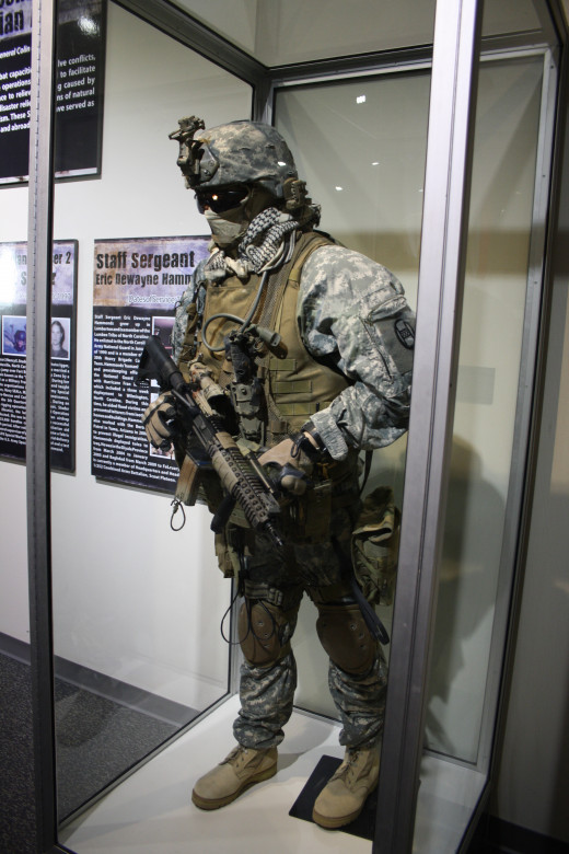 One of the exhibits in the Special Exhibits room