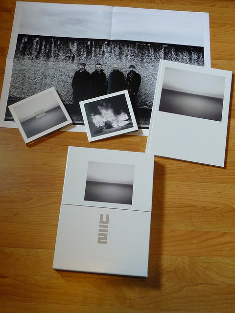 Deluxe Box Set of No Line on the Horizon with a Stylized Form of the U2 Logo