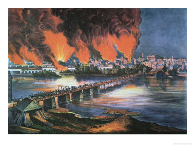 The Fall of Richmond, Virginia, on the Night of April 2nd 1865