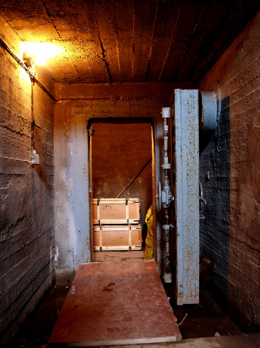 An old bomb shelter  may add great atmosphere to the Doomsday celebration.