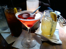 Southern Sweet Iced Tea, Watermelon Martini, and Daddy Long Legg's Lemonade