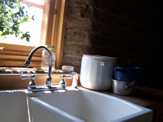 I love this kitchen scene at the Botanic Gardens' Heritage Farm!