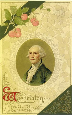 A stately portrait of our first president