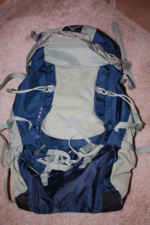 The Osprey Kestrel 38 backpack - a great choice for short backpacking trips
