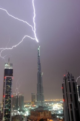 Lightning Rods are used for protecting buildings from lightning strikes.