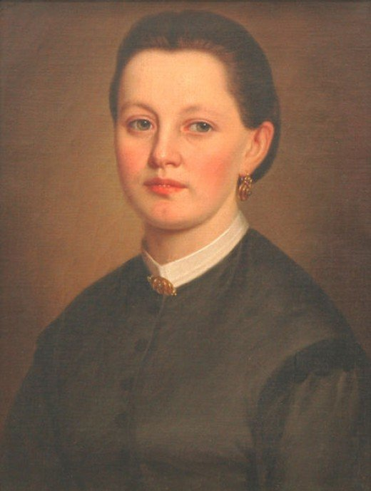 The portrait of the unknown woman by an unknown artist is thought  to have been painted between 1850 and 1899.