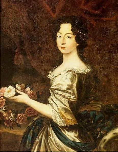 This portrait of Anne Marie d'Orléans (1669-1728) was painted circa 1684 by an unknown artist.
