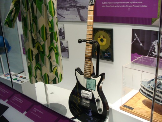 Included in the display is a signed guitar that was once Bob Seger's.