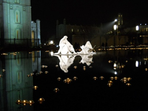 My favorite nativity on the water near the temple.