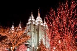Salt Lake City Temple during Christmas