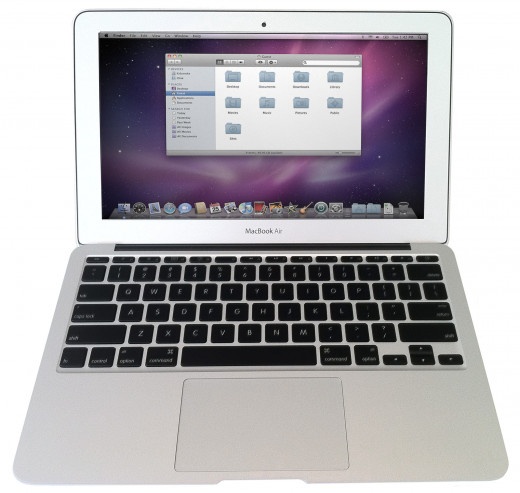 The MacBook Air is the sleekest laptop on the market.