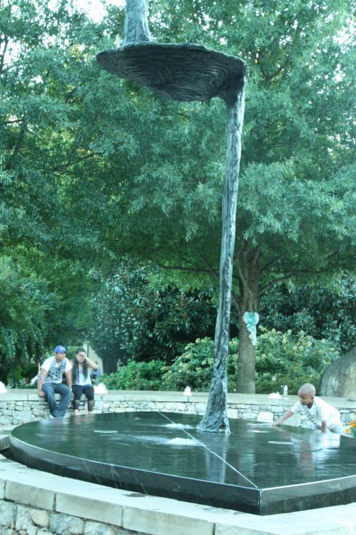 A fountain near Falls Park