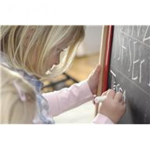 Preschool classrooms offer a variety of centers allowing children to creatively express themselves.