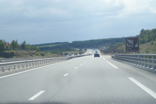 The A77 a new Autoroute to us but this is Rush Hour !!!