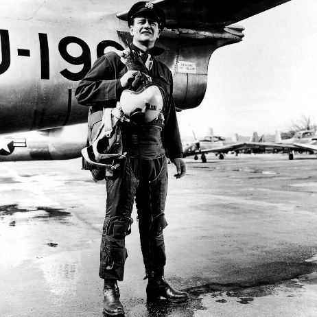 John Wayne in uniform (but never in real life)