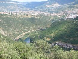 The Valley looking towards Millau village