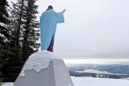 Big Mountain Jesus, a statue placed in 1954 to honor World War II veterans, has recently been challenged as unconstitutional.