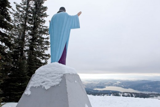 Big Mountain Jesus, a statue placed in 1954 to honor World War IIveterans, has recently been challenged as unconstitutional.