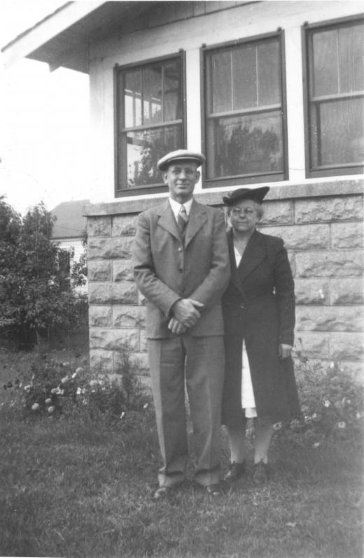 Grandpa (John) and Grandma (Mary) Warrington