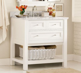 White cabinets are coming back, and are a strong contender for the most popular vanity color in 2013