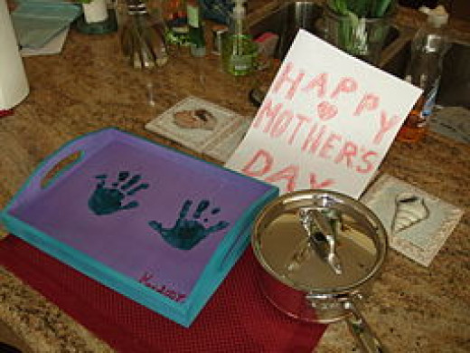 Handmade gifts and a homemade brunch will delight Mom on her day!