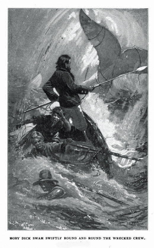 A scene from Moby-Dick by Herman Melville