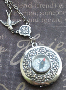 For the old fashioned lady explorer: the compass rose necklace.