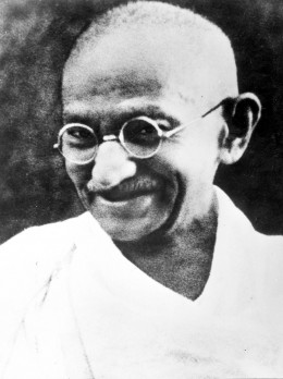 Ghandi promoted a 2-legged approach.