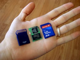 SD Card Taken Apart
