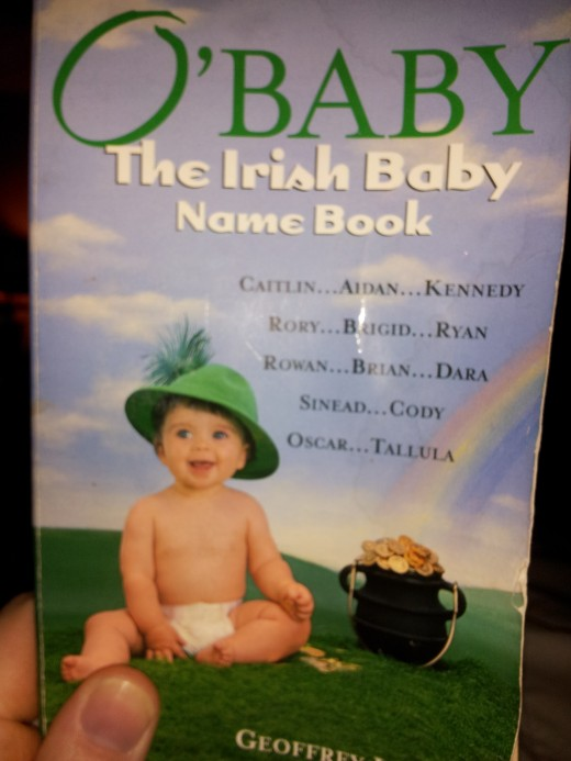 I loved looking through the baby name books, like this Irish baby name book, for inspiration!