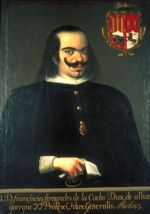 """Former viceroy of Spain who was titled as """"Duke of Alburquerque."""" He is believed to be the city's namesake."""