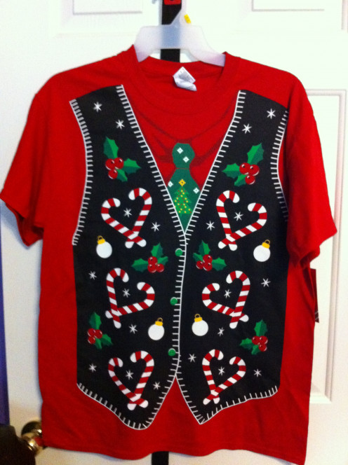 "An ""ugly sweater"" in t-shirt form!"