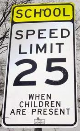 But when children aren't around, feel free to go as fast as you want to.  (32)