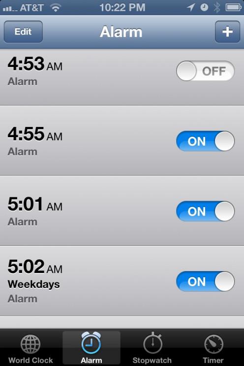 Smartphones offer good alarm clock options.