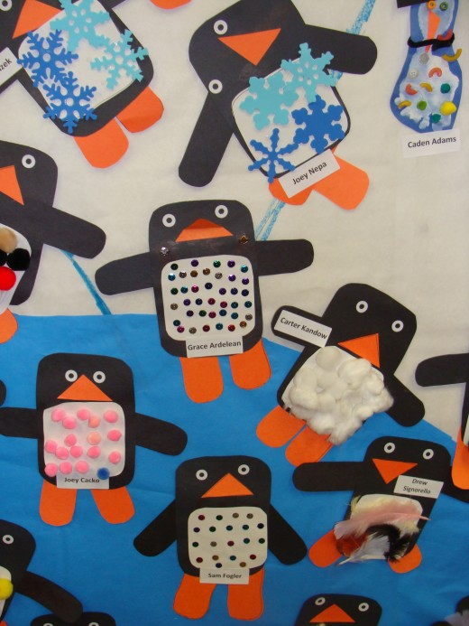 Cute winter penguin craft.