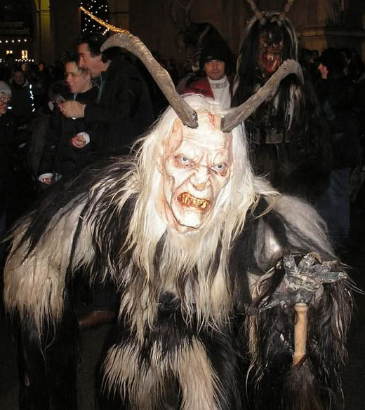 Incredible Krampus costume from a Krampustag celebration..at least I HOPE it's a costume...