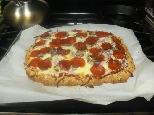 With an almond flour crust, eating pizza on a low carb diet is possible.