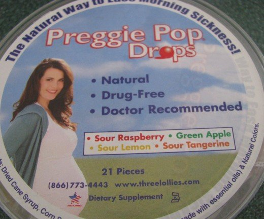 Preggie Pop Drops are a natural way to fight nausea from morning sickness.