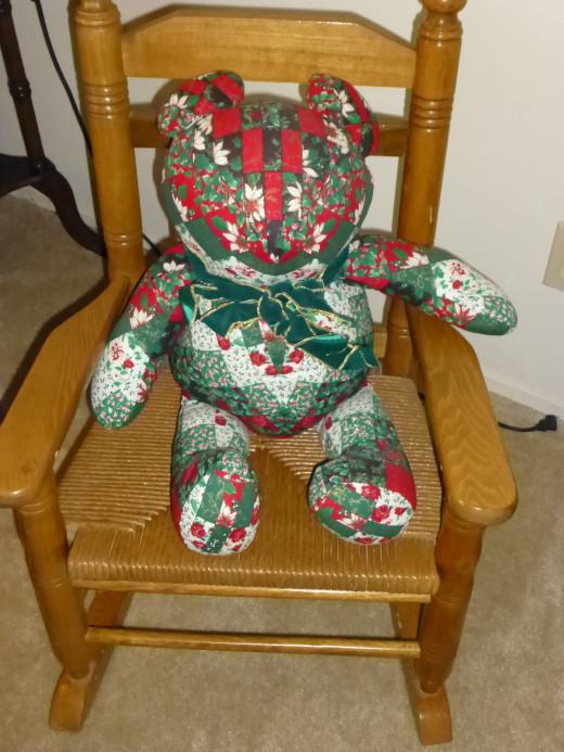my homemade teddy!