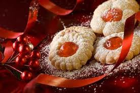 cherry-topped lemon cookies. A family Christmas favorite.