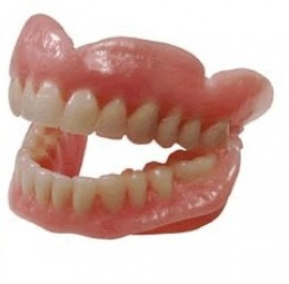 Here's how dentures usually look like