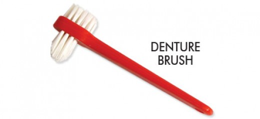 This is how a special denture toothbrush looks like