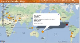Vanuatu off the Eastern coast of Australia experienced a 6.4 earthquake 12-2-2012.
