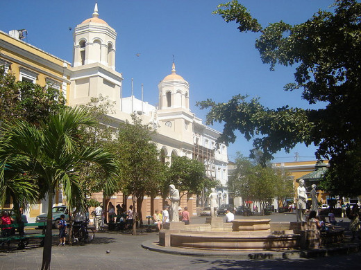 Plaza de Armas, an open square in Old San Juan, Puerto Rico was photographed by Thief12 on February 17, 2007.