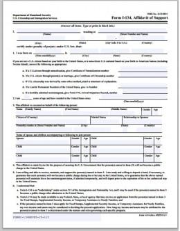 immigration form ds 260 sample