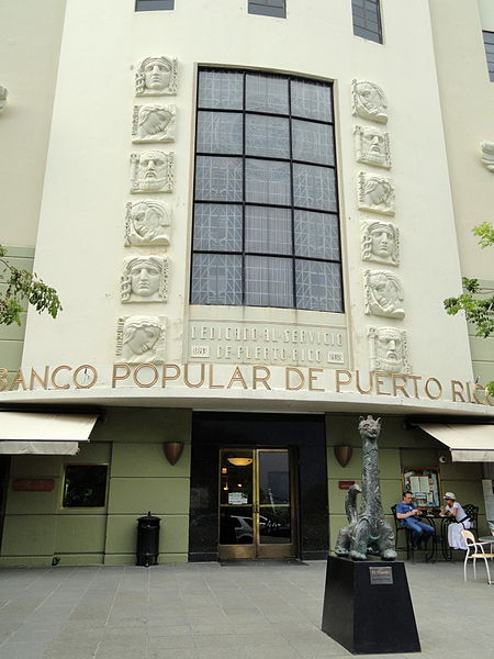 This bank building in Old San Juan was photographed by Daderot on October 22, 2011.