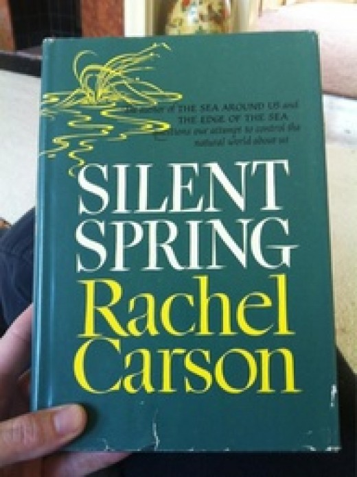 This book by scientist Rachel Carson,published in 1962, changed the way we look at the environment. President J.F. Kennedy read it and ordered immediate investigations into the use of the pesticide DDT.