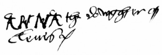 The signature of 'Anna, the daughter of Cleves'